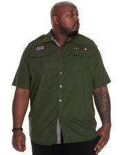 Button-down - Fury Short-Sleeve Military Shirt (B&T)