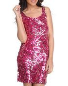 Fashion Lab Women Run This World Sequins Mini Dress Purple Small