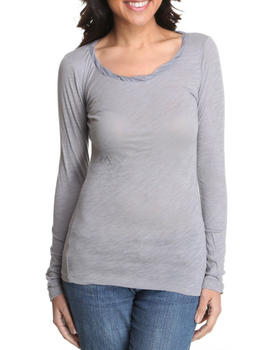 Basic Essentials - Long Sleeve Scoop Neck Top