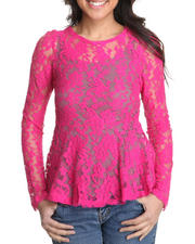 Fashion Tops - Rose wall lace top
