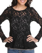 Long-Sleeve - Rose wall lace top