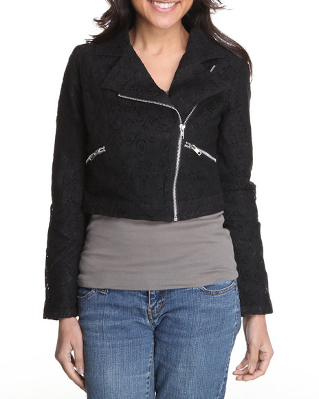 Fashion Lab - Women Black Kace Motorcycle Jacket