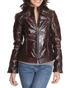 Outerwear - Leather zipup jacket