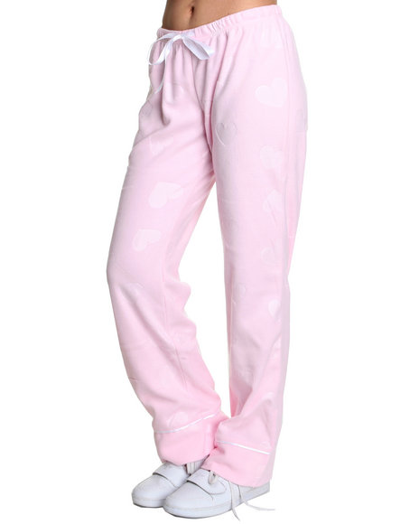 Basic Essentials Women Pink Fleece Pajama Bottoms
