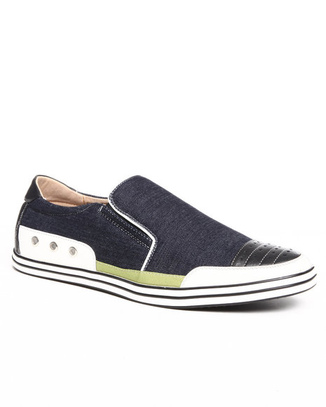 Buyers Picks Men Navy Slip On Canvas Sneaker