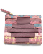 Clutches - Ricco Crossed Canvas Pouch