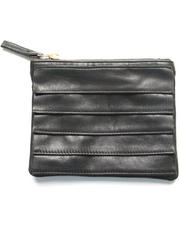 Clutches - Ricco Black Leather Pouch