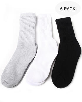 Basic Essentials - Multicolor 6-Pack Crew Socks