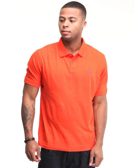 Rocawear Men Shadow Rider S/S Polo Orange Medium