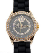 Jewelry - AB Gold Case Rubber Band Watch