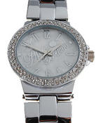 Jewelry - AB Blinged Out Metal Watch