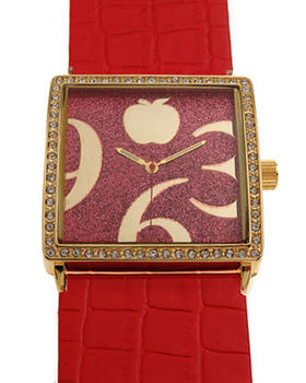 Apple Bottoms - AB Square Face Pleather Band Watch