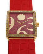 Jewelry - AB Square Face Pleather Band Watch