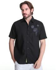 Button-down - Eric Short Sleeve Shirt w/ Patches