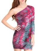 jellyfish one shoulder dress