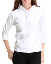 Basic Essentials - Solid Pullover fleece light weight jacket w/hood