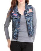 Outerwear - Patched Work Denim Vest