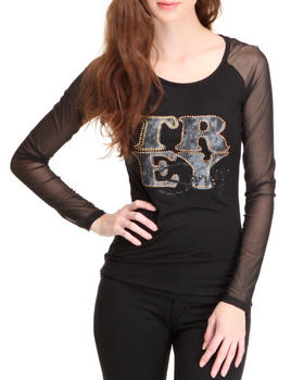 Treys Angels - Seamed Mesh Solid Tee