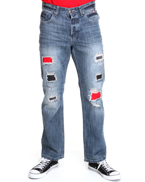 Parish Men Dark Wash Flutter Jeans