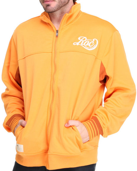 Rocawear Men Orange Roc Track Jacket