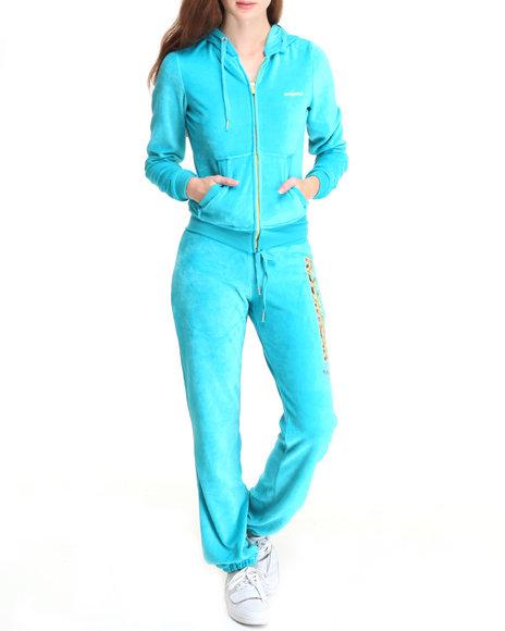 Rocawear Women Blue Sexy Since 99 Velour Set