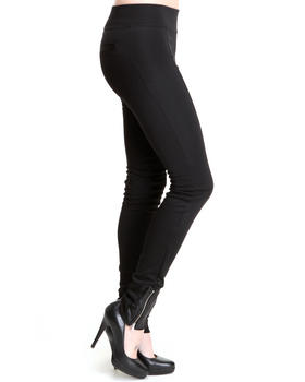 Treys Angels - Plated Jersey Zip Hem Active Leggings