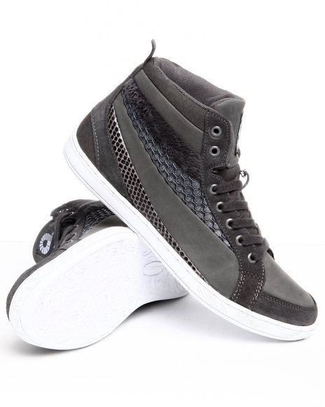 Akademiks Women Grey Faux Snake Print Sneaker