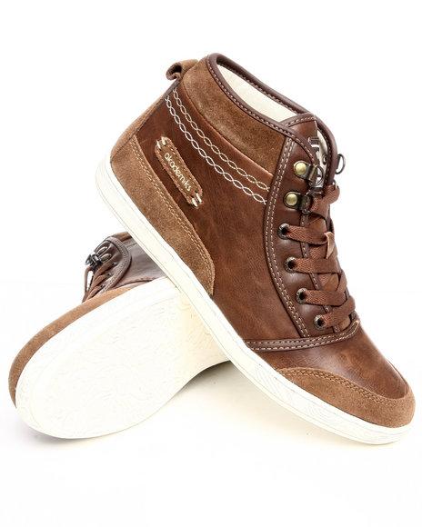 Akademiks Women Tan Leather & Nubuck Sneaker