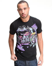 Shirts - Neon Harley Flocked Tee