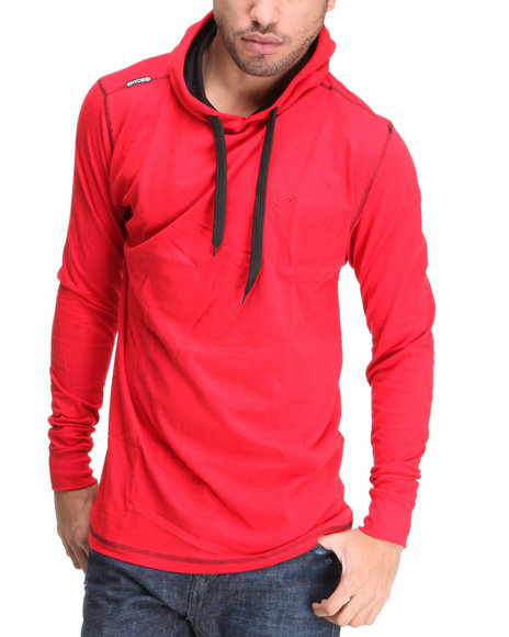 Enyce Men Crimson Solid Jersey Pullover