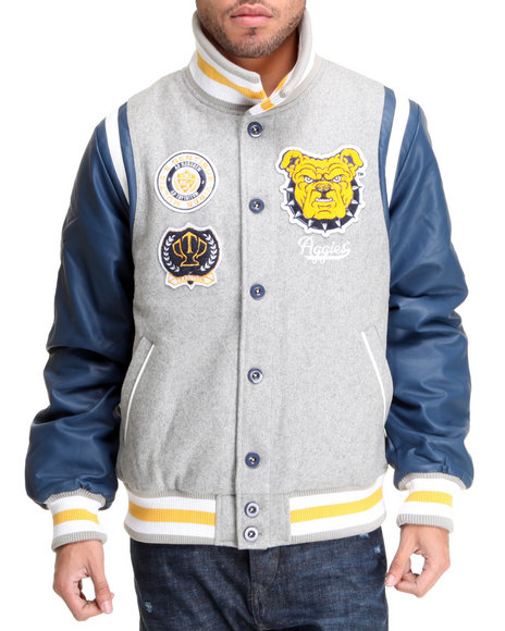 - Navy North Carolina A&T Varsity Jacket