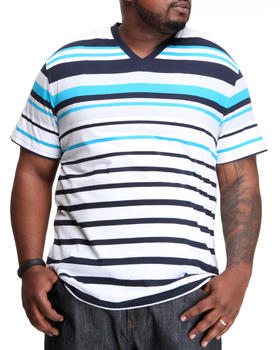 Southpole - Engineered Stripe V-Neck Tee (B&T)
