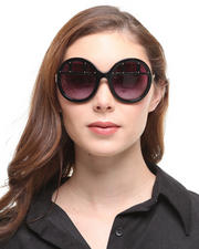 Coco & Breezy - Mosi Shades - Jackee OHH -Black Window Pane Frame w/ Purple Lens