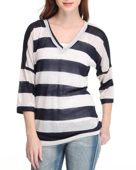Fashion Lab - Social House V neck Stripe Sweater