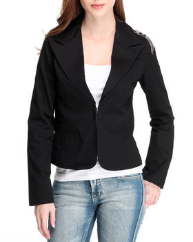 Fashion Lab - Twill Jacket W/Shoulder Emblem