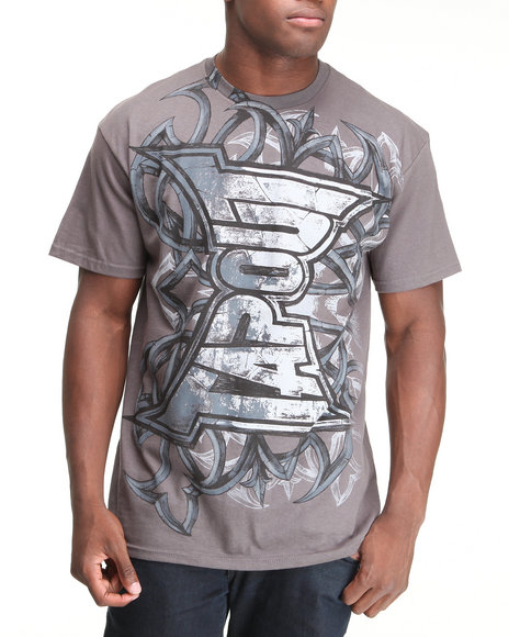 TAPOUT Men Grey Tapout Punch Tee