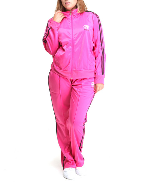 Ecko Red Women Pink Track Suit Set W/Stripe Detail (Plus)