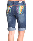 Women - Coogi Multi Colored Pocket Distressed Jean Capri