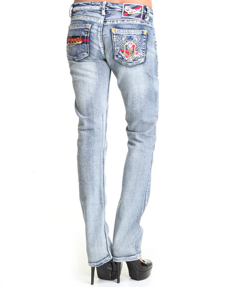 COOGI Women Light Wash Coogi Skinny W/ Embroidered Pocket