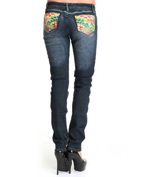 COOGI - COOGI MULTI COLORED BACK POCKET SLIM JEANS