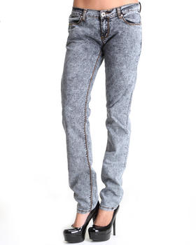 Basic Essentials - ACID WASH JEANS PANTS
