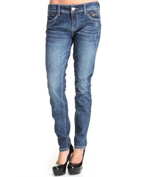 Baby Phat Women Medium Wash Whitney Skinny Jeans