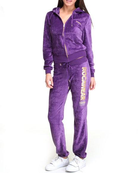 Rocawear Women Purple Sexy Since 99 Velour Set
