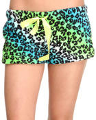 Bottoms - PLUSH CHEETAH SHORTS