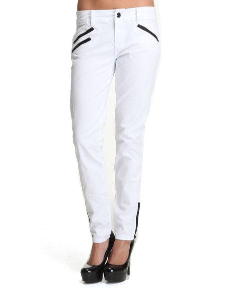 Baby Phat Women Medium Wash Multi Zip Ankle Skinny Jeans