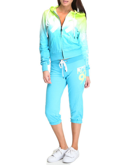 Rocawear Women Blue,Green Active Ombre Set