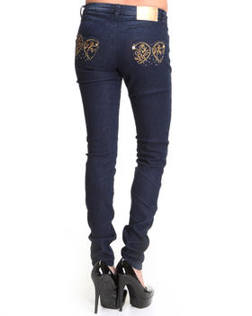 Apple Bottoms - Stone Trimmed Apple Pocket Skinny Jean