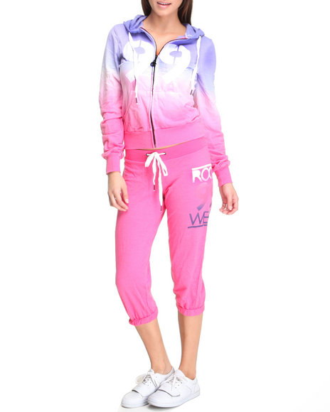 Rocawear Women Pink Active Ombre Set