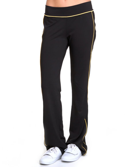 Basic Essentials - Women Yellow,Black,Black,Yellow Athletic Pants - $42.00