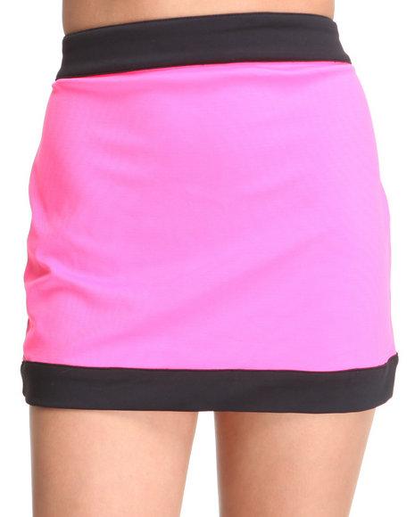 Baby Phat Women Pink Zip Front Mini Skirt